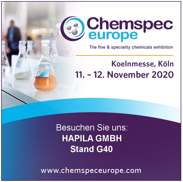 HAPILA commits to rescheduled Chemspec Europe Exhibition
