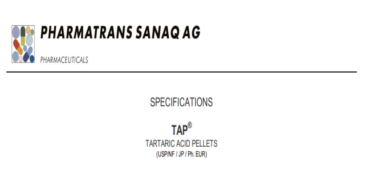 TAP® Tartaric Acid Pellets