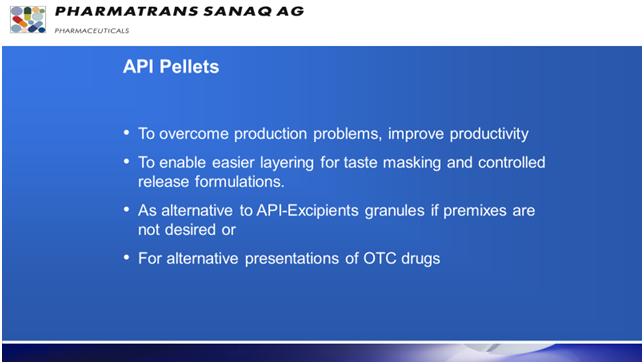 Pharmatrans TAP® – Tartaric Acid Pellets