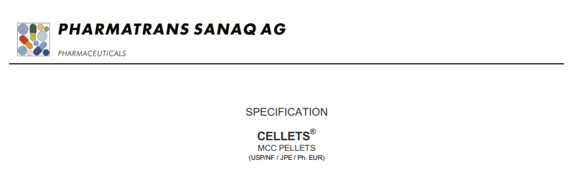 Cellets® MCC Pellets