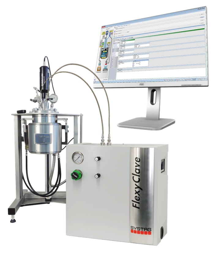 SYSTAG FlexyCLAVE automated hydrogenation solution