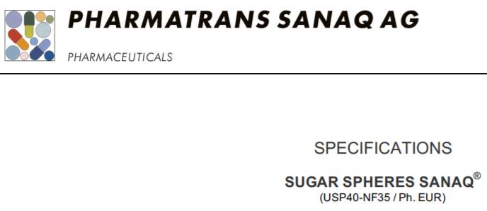 Sugar Spheres SANAQ®