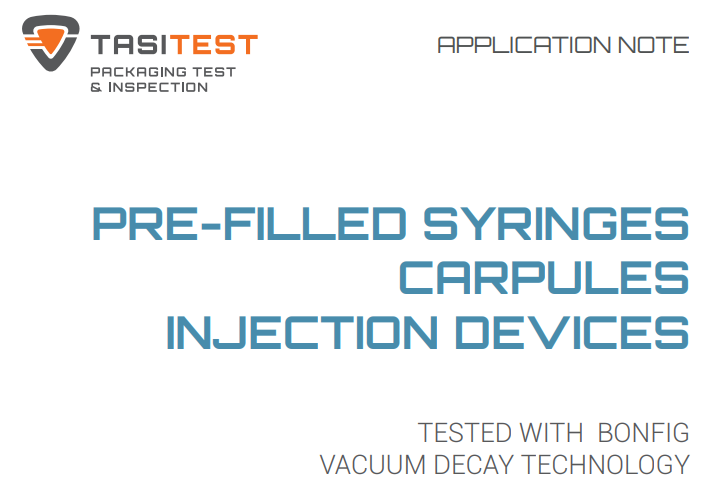 Pre-filled syringes, carpules, injection devices – Application Note