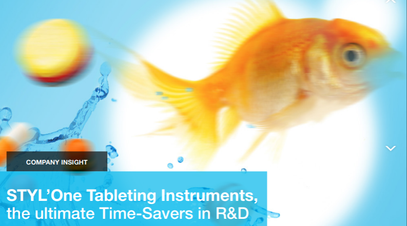 STYL'One Tableting Instruments, the ultimate Time-Savers in R&D