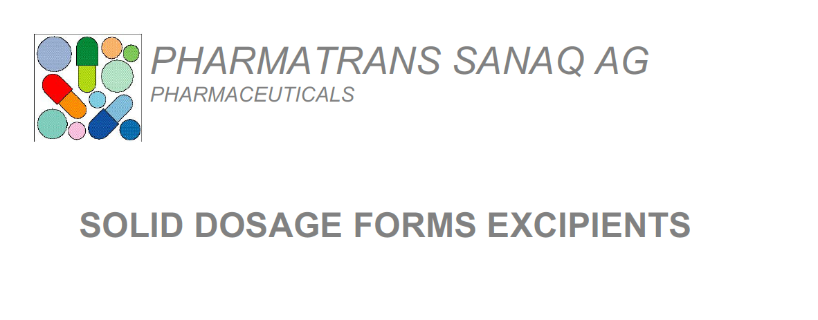 Solid Dosage Forms Excipients