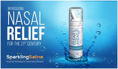 Sparkling Saline Spray: 21st century carbonated natural nasal relief