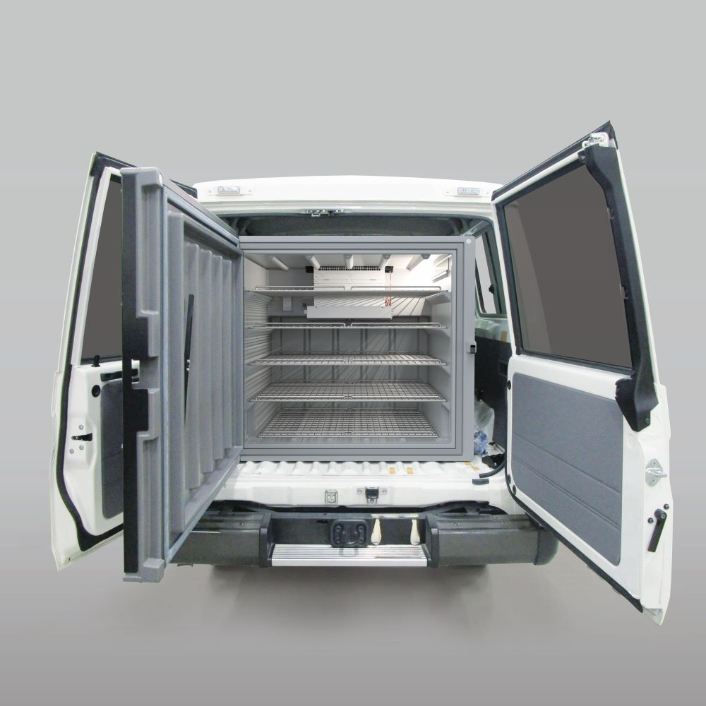 B Medical Systems, Toyota Tsusho Corporation, and Toyota Motor Corporation introduce the world's first WHO PQS prequalified refrigerated vehicle