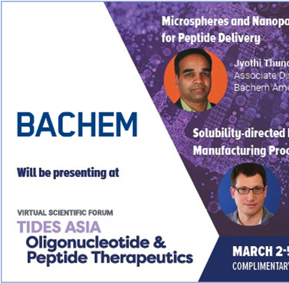 Bachem hosting webinar on Solubility-directed Development of Trileucine process