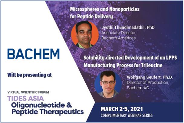 Bachem hosting webinar on Solubility-directed Development of Trileucine process