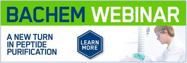 Bachem hosting further webinar on Peptide Easy Clean technology