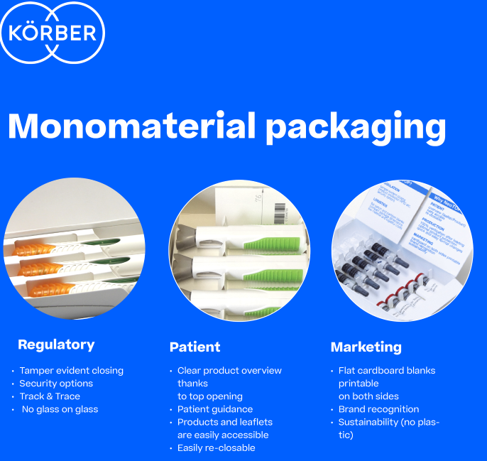 Körber meets rising self-medication and sustainability demands with Dividella Solution NeoTOP platform and monomaterial packaging