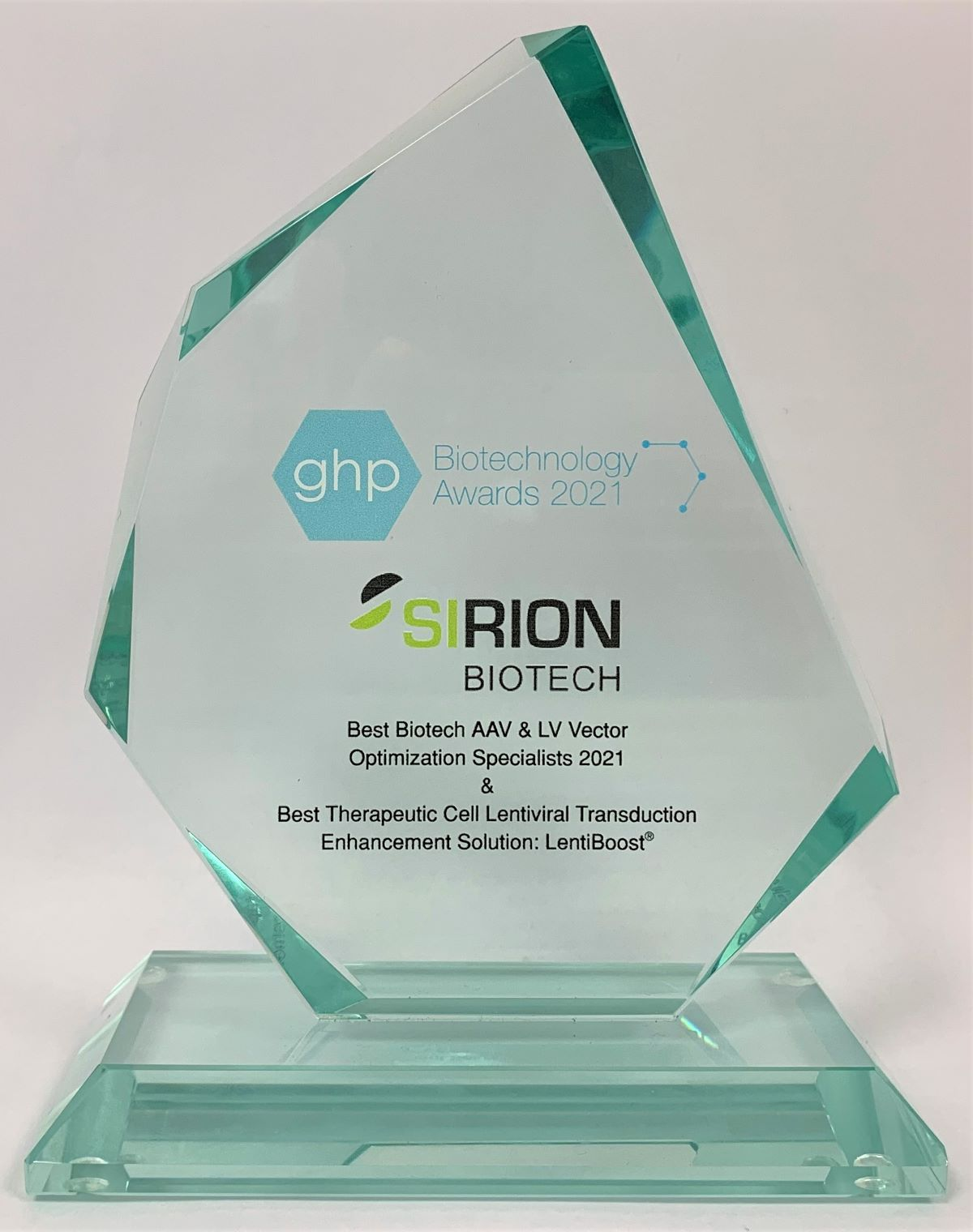 SIRION Biotech scoops double GHP Biotechnology Awards for 2021