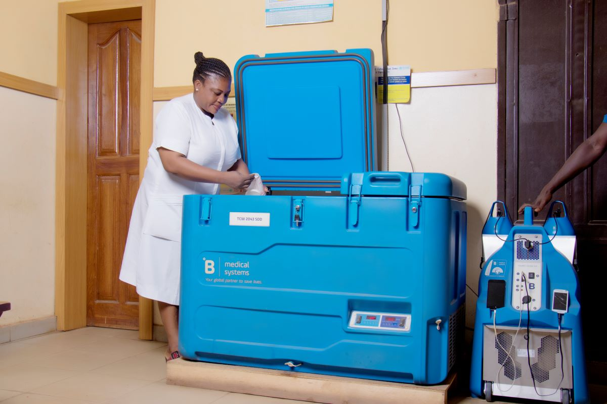 B Medical Systems' Solar Direct Drive Vaccine Refrigerators & Ice-Pack Freezers
