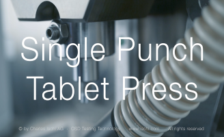 Single Punch Tablet Press – Charles Ischi AG – OSD Testing Technology