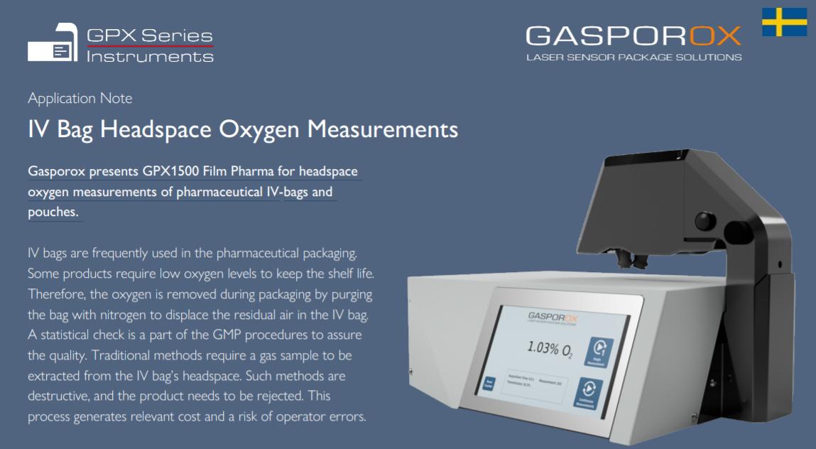 IV Bag Headspace Oxygen Measurements