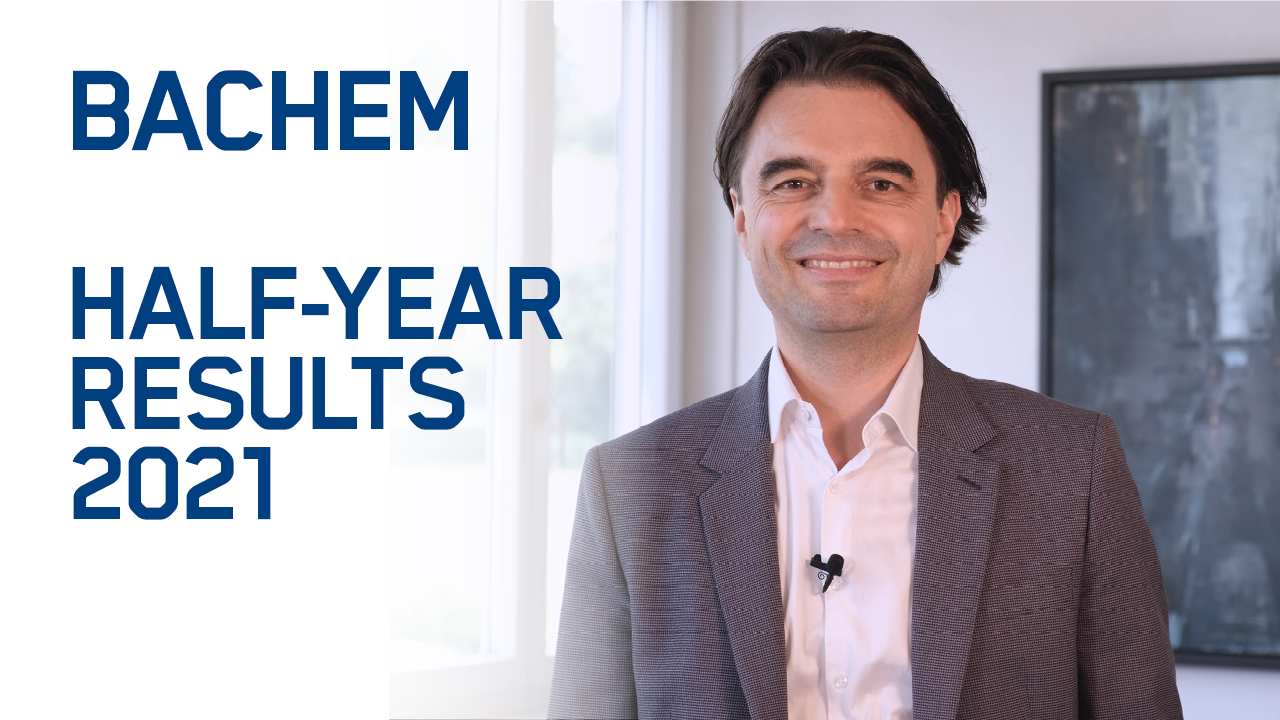 Bachem reports 'excellent' first half results for 2021